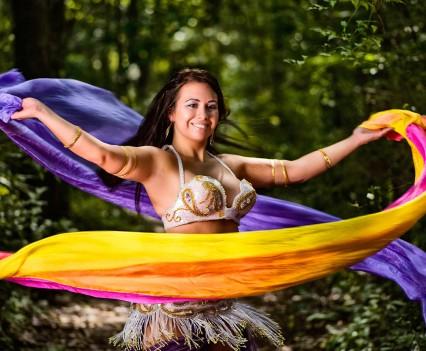 Olivia in woods